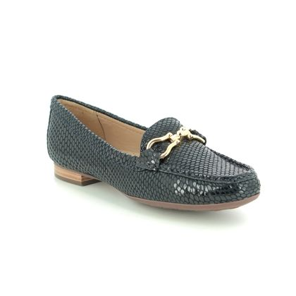 Begg Shoes Loafers and Moccasins - Navy Patent-Suede - 25911/70 SUNFLOWER 01