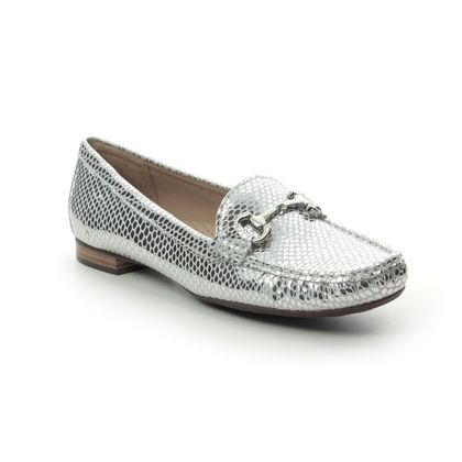Begg Shoes Loafers and Moccasins - Silver - 25836/01 SUNFLOWER