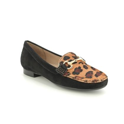 Begg Shoes Loafers and Moccasins - Black - 25836/23 SUNFLOWER