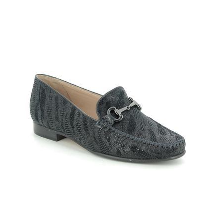 Begg Shoes Loafers and Moccasins - Navy suede - 51514/70 TOSCANA