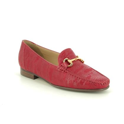 Begg Shoes Loafers and Moccasins - Red suede - 51514/80 TOSCANA