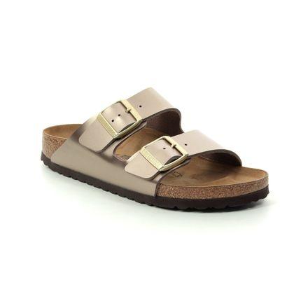 Birkenstock Slide Sandals - Metallic - 1012972 ARIZONA ELECTRIC