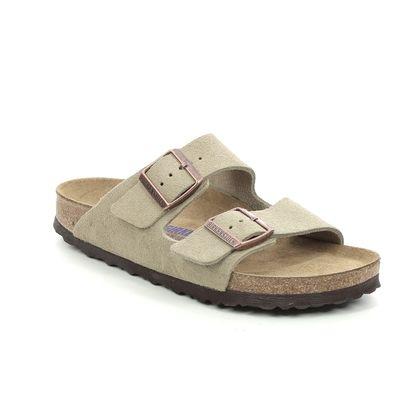 Birkenstock Slide Sandals - Taupe suede - 0951303 ARIZONA LADIES