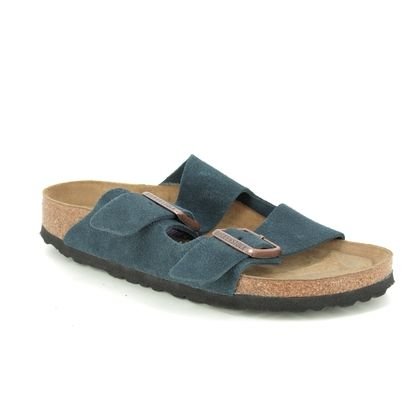 Birkenstock Slide Sandals - Navy suede - 1012424 ARIZONA LADIES
