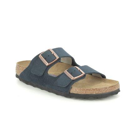 Birkenstock Slide Sandals - Navy suede - 1012424 ARIZONA LADIES