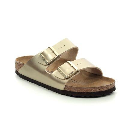 Birkenstock Slide Sandals - Gold - 1016111 ARIZONA LADIES