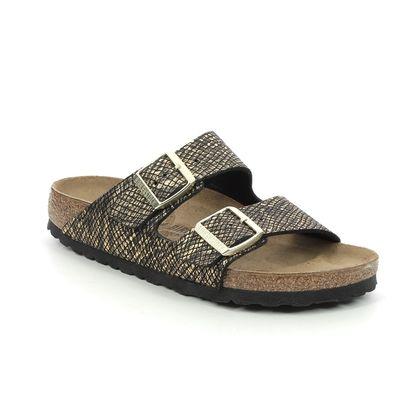 Birkenstock Slide Sandals - Black gold - 1019372/32 ARIZONA LADIES