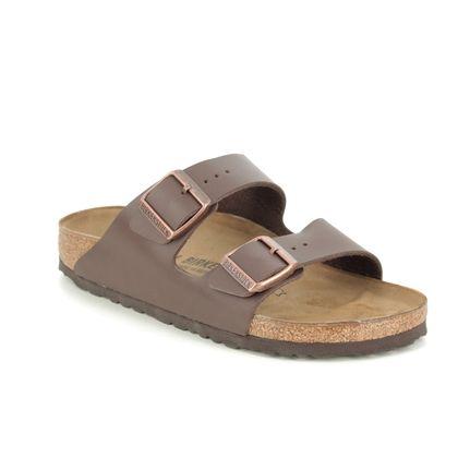 Birkenstock Slide Sandals - Brown - 0051/703 ARIZONA LADIES