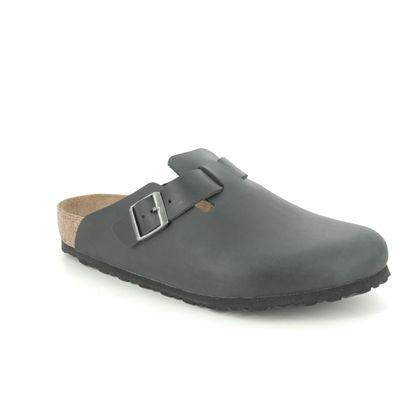 Birkenstock Slippers & Mules - Black leather - 59461/31 BOSTON
