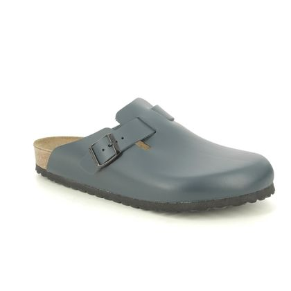 Birkenstock Slippers & Mules - Navy Leather - 60151/71 BOSTON
