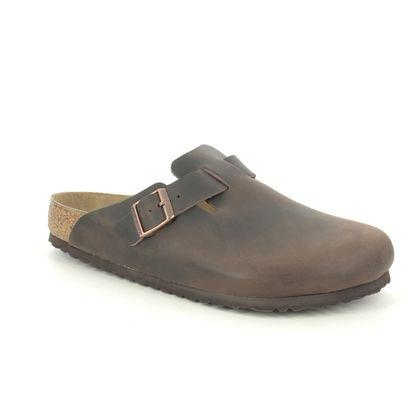 Birkenstock Slippers & Mules - Brown leather - 860131/21 BOSTON