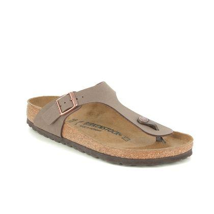 Birkenstock Toe Post Sandals - Brown nubuck - 0043753 GIZEH  NARROW