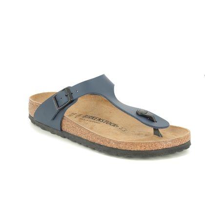 Birkenstock Toe Post Sandals - Navy - 0143623 GIZEH  NARROW