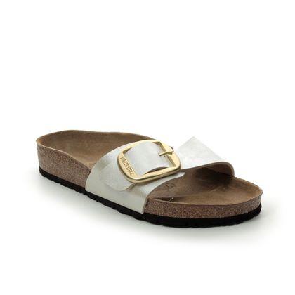 Birkenstock Slide Sandals - Oyster - 1015278 MADRID BUCKLE