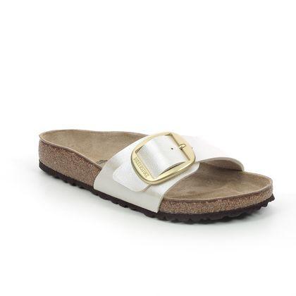 Birkenstock Slide Sandals - Oyster - 1015278/52 MADRID BUCKLE