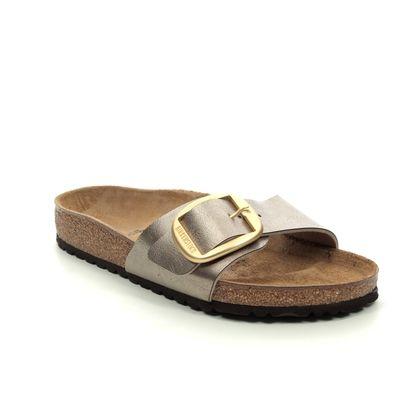 Birkenstock Slide Sandals - Metallic - 1016236 MADRID BUCKLE