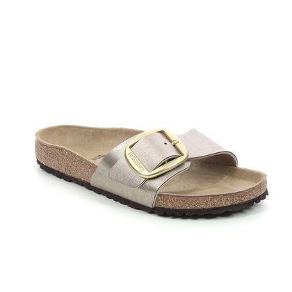 Birkenstock Slide Sandals - Metallic - 1016236/51 MADRID BUCKLE