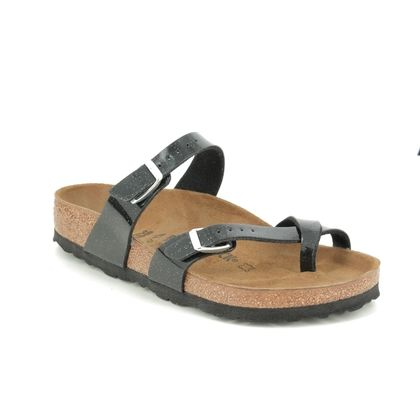 Birkenstock Toe Post Sandals - Black Glitz - 1016493 MAYARI