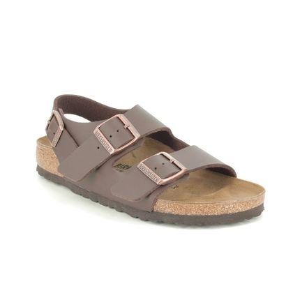 Birkenstock Comfortable Sandals - Dark brown - 0034703 MILANO LADIES