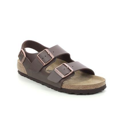 Birkenstock Slide Sandals - Dark brown - 34703/20 MILANO LADIES