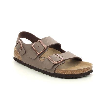 Birkenstock Slide Sandals - Brown nubuck - MILANO LADIES 634503/23