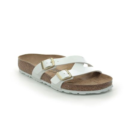 Birkenstock Slide Sandals - White patent - 1016352 YAO