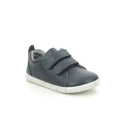 Bobux Boys Shoes - Navy leather - 6337/04 GRASS COURT IWALK