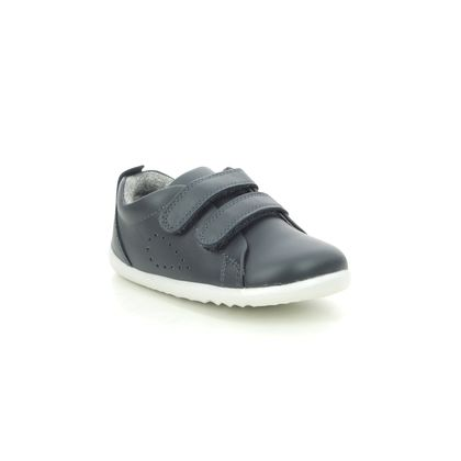 Bobux 1st Shoes & Prewalkers - Navy leather - 7289/15 GRASS COURT STEP UP