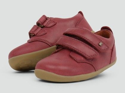 Bobux 1st Shoes & Prewalkers - Red leather - PORT Step Up