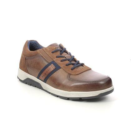 Bugatti Casual Shoes - Tan Leather  - 321A5E04/6300 ARUS