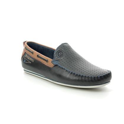 Bugatti Slip-on Shoes - Navy leather - 32170466/4163 CHEROKEE 2