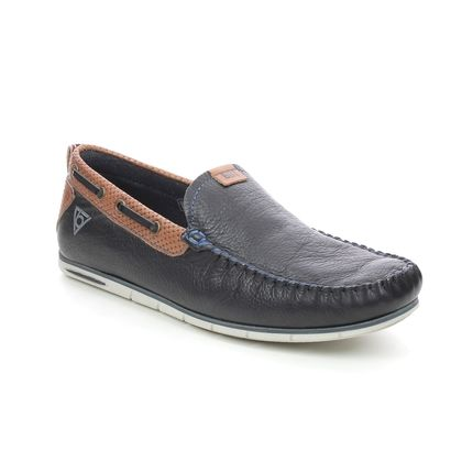 Bugatti Loafers - Navy leather - 321A2X65/4100 CHESLEY CHEROKE