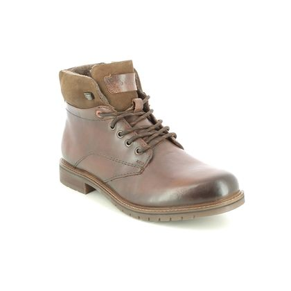 Bugatti Boots - Tan Leather  - 331A5V30/6000 ENRICO ZIP
