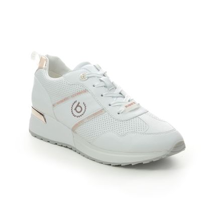 Bugatti Trainers - WHITE LEATHER - 41177203/2090 IVORY