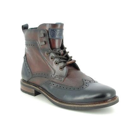 Bugatti Brogue Boots - Brown leather - 31178232/4161 MARCELLO I BROGUE