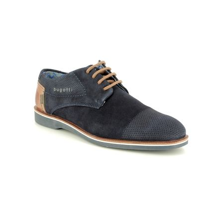 Bugatti Casual Shoes - Navy Suede - 31264702/4100 MELCHIORE