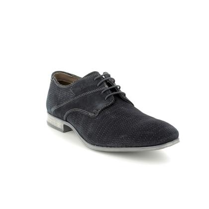 Bugatti Casual Shoes - Navy Suede - 31125208/4100 MOSARIO