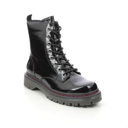 Bugatti Biker Boots - Black patent - 431A4P30/1000 NERIA  BIG ZIP