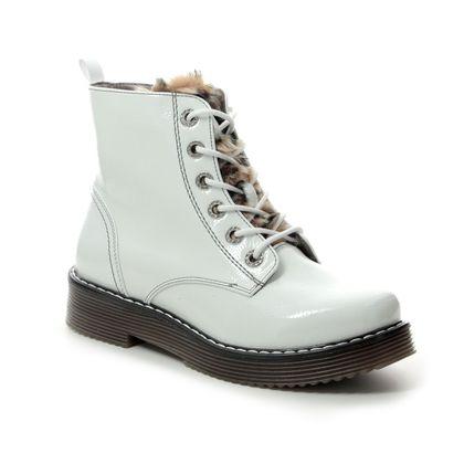 Bugatti Boots - Ankle - White patent - 43254932/2060 NERIA MARTEN