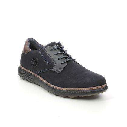 Bugatti Casual Shoes - Navy suede - 321A5U01/4173 PRAMO