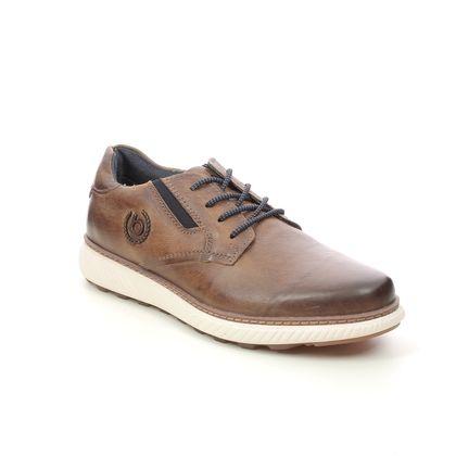 Bugatti Casual Shoes - Tan Leather  - 321A5U01/6300 PRAMO