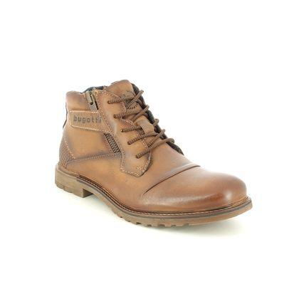 Bugatti Chukka Boots - Brown leather - 321A0U34/6300 VITTORE ZIP