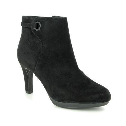 Clarks Ankle Boots - Black Suede - 443824D ADRIEL MAE