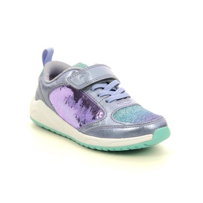 Clarks Girls Trainers - Lilac - 541146F AEON FLEX K