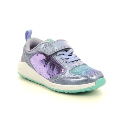 Clarks Girls Trainers - Lilac - 541147G AEON FLEX K