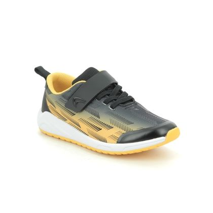 Clarks Boys Trainers - Black yellow - 515406F AEON PACE K
