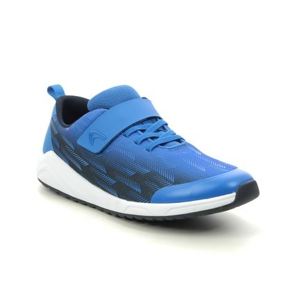 Clarks Boys Trainers - Navy - 515306F AEON PACE Y