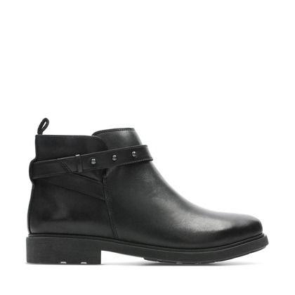 Clarks Girls Boots - Black leather - 433976F ASTROL SOAR Y