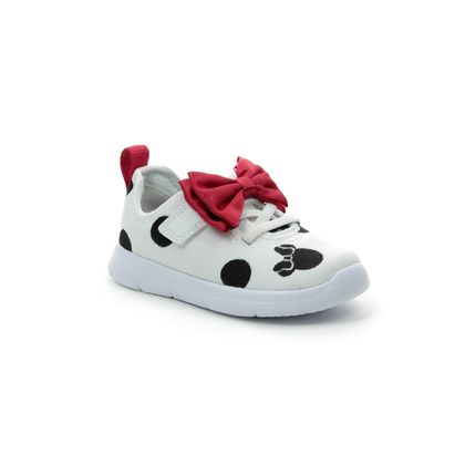 Clarks Girls Trainers - White multi - 424086F ATH BOW TODDLER DISNEY
