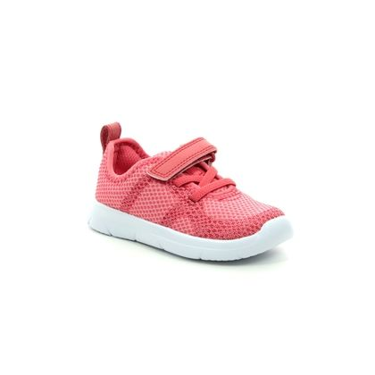 Clarks Girls Trainers - Coral - 412726F ATH FLUX T